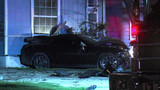 Police searching for driver who hit stop sign, crashed into home, ran from scene