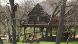 Want a unique camping experience? Try staying in a treehouse or teepee