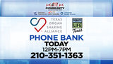 KSAT Community partners hold Donate Life Texas Phone Bank Wednesday