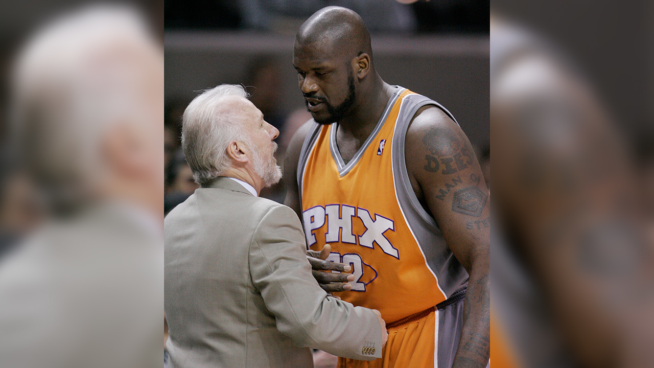VIDEO: Shaq shares heartwarming story of Popovich's family following death of Pop's wife