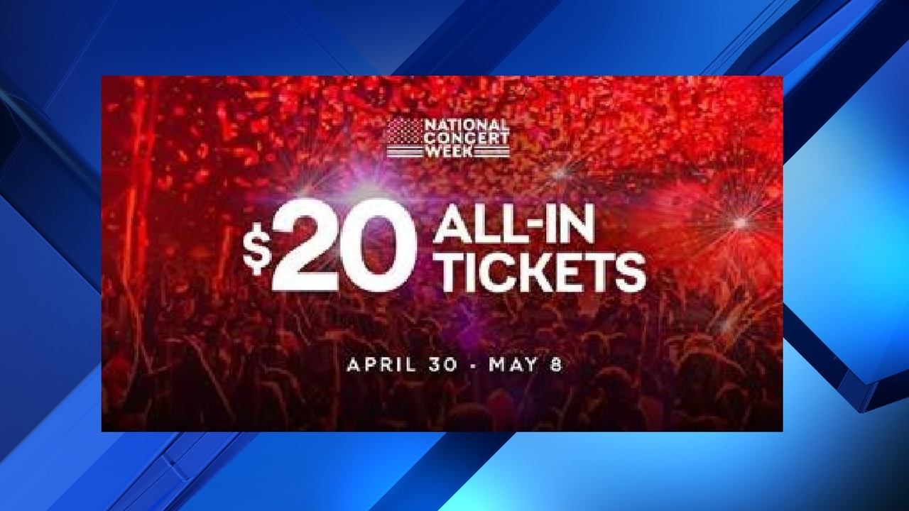 Live Nation To Offer 20 Summer Concert Tickets For One Week Only