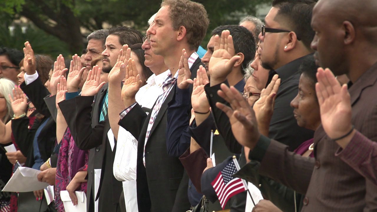 Special naturalization ceremony taking place at Alamo Tuesday