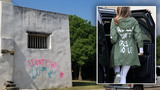 Graffiti at San Antonio missions echoes controversial jacket worn by first lady