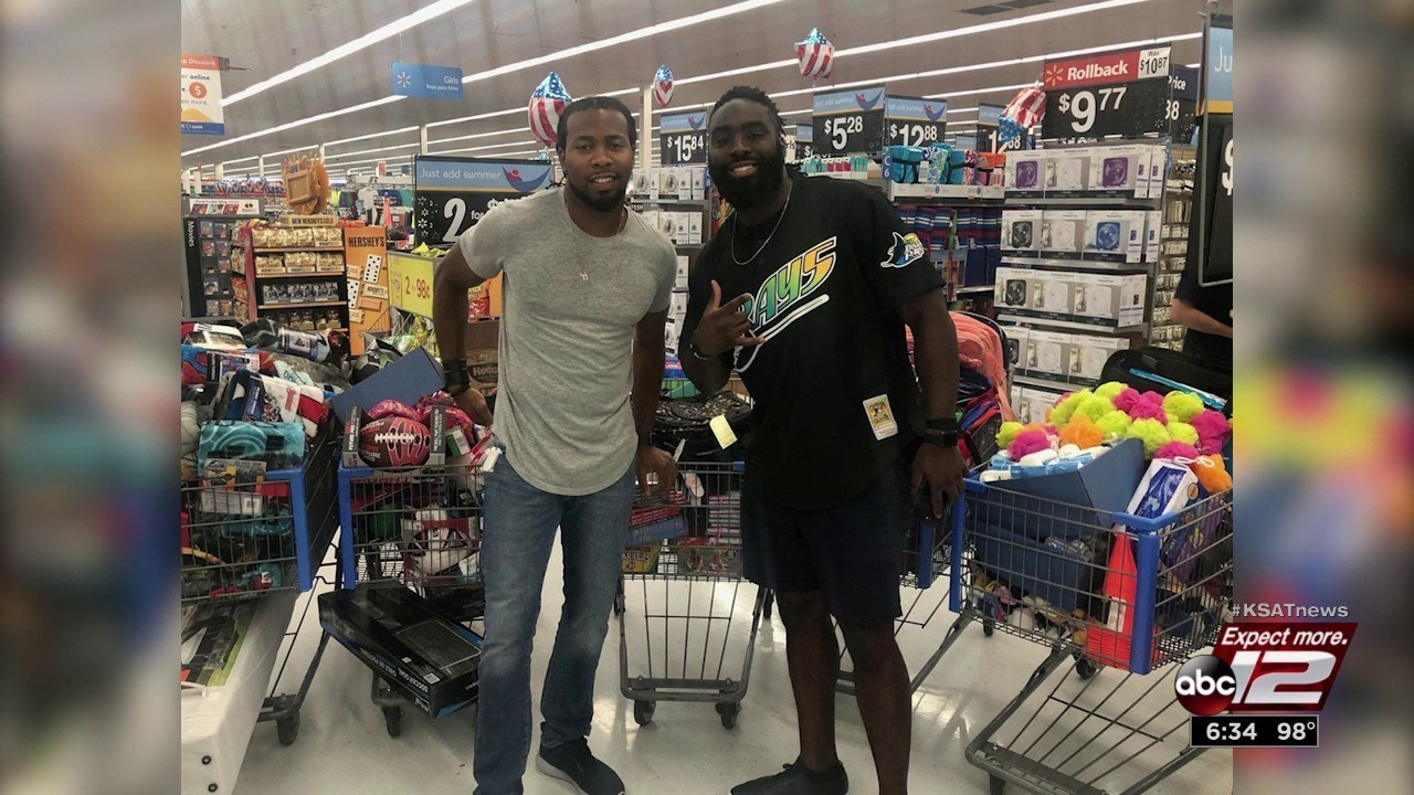 Nfl Stars In San Antonio Give Supplies To Immigrant