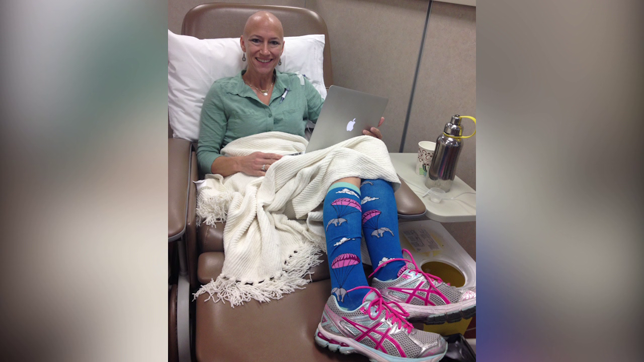 Fun Socks Help Cancer Patients Cope With Chemotherapy