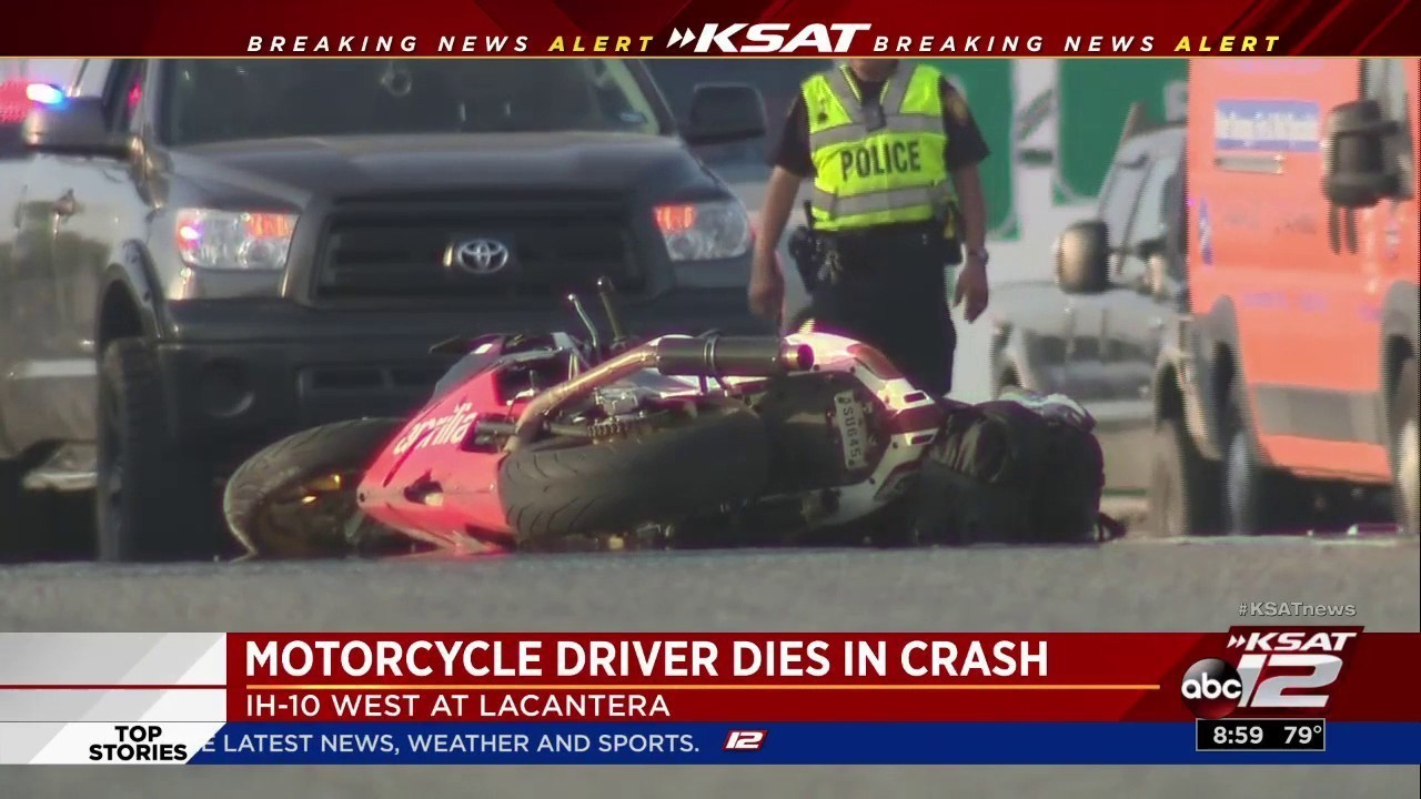 1 dead in motorcycle accident on wb i-10 at camp bullis exit