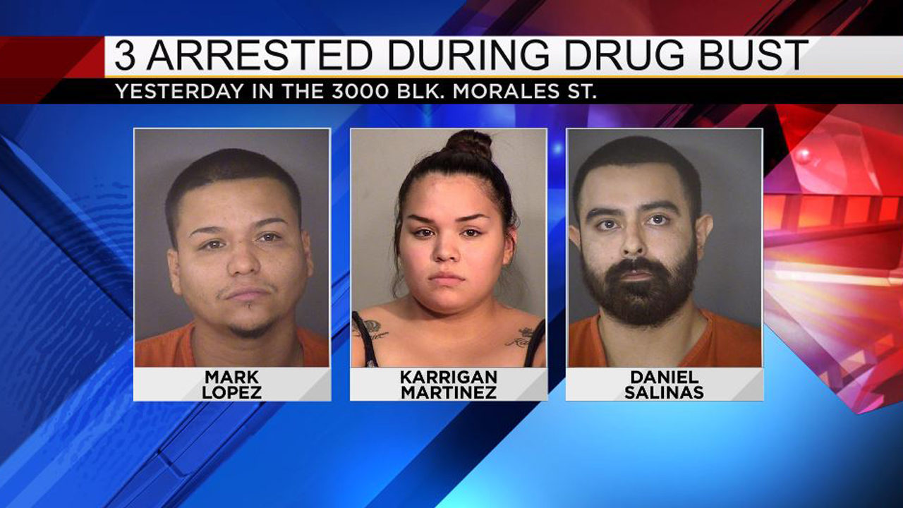 3 arrested after drug bust on San Antonio's West Side