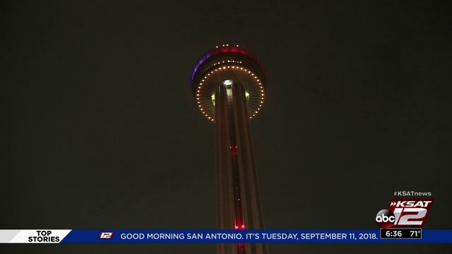 first responders observe 9 11 with a tower of the americas climb