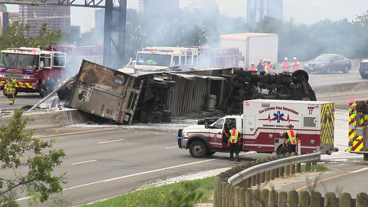 Plumbers Rescue 18 Wheeler Driver From Fiery Wreck On