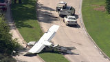 Small plane crashes into several vehicles in residential area near Sugar Land
