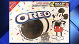 Oreo celebrating Mickey Mouse's birthday with cake-flavored cookie