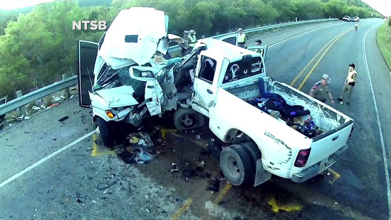 NTSB report: Driver swerved under influence, better seat belts needed after bus crash killed 13
