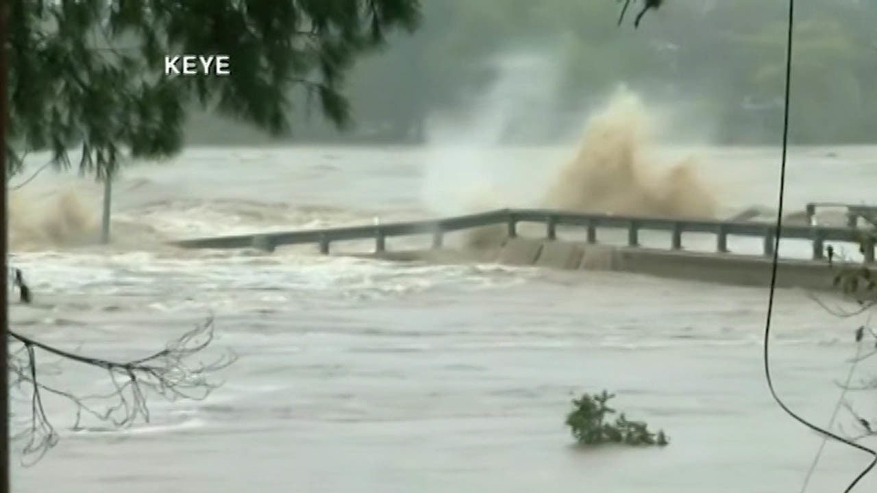 WATCH: Video shows moment bridge destroyed by rushing floodwater