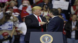 Trump escalates immigration rhetoric at rally to boost Cruz