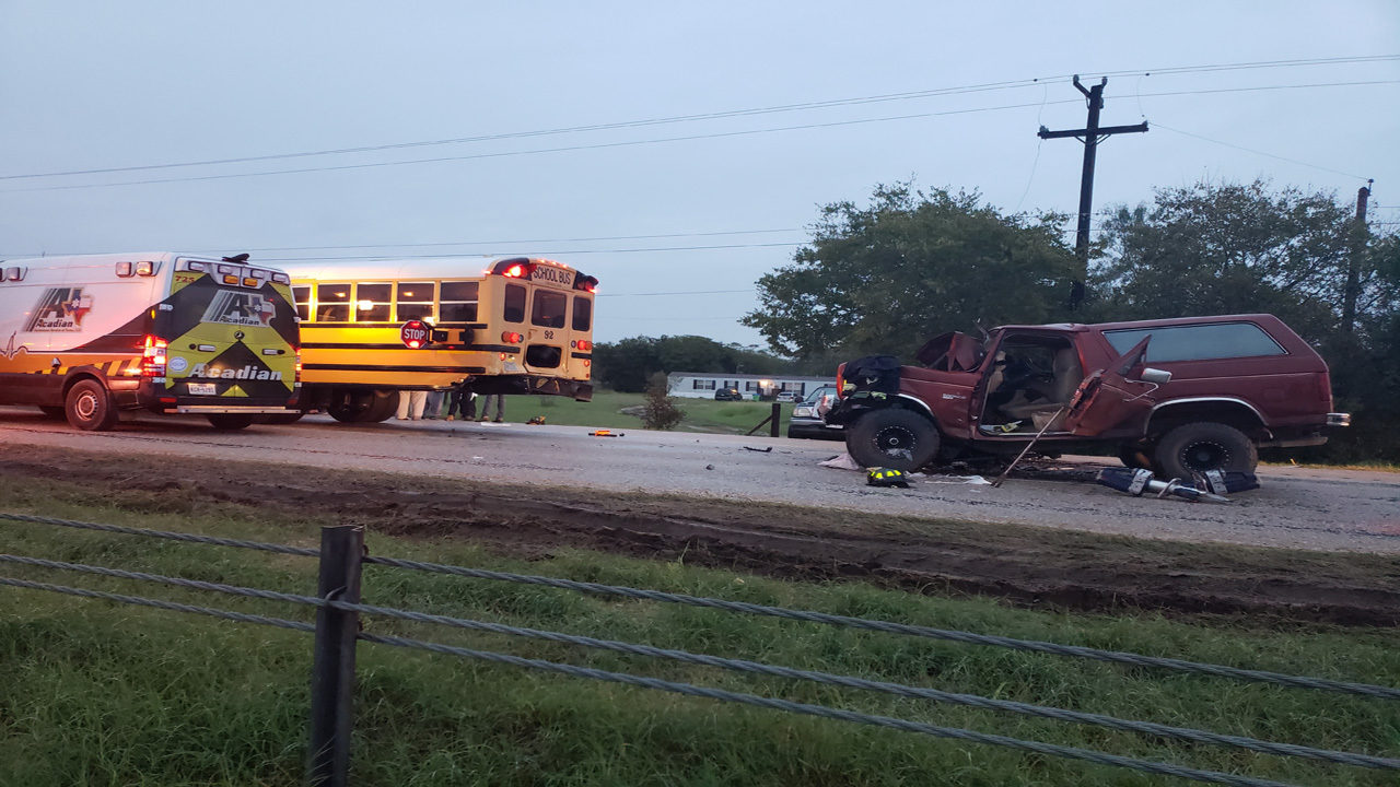 Teen driver rear-ends school bus carrying more than 40