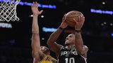 Spurs rally to keep LA Lakers winless with LeBron, 143-142