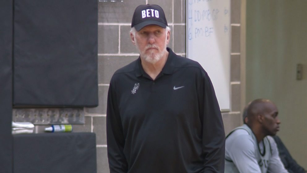 9ba274a2df65 Video thumbnail for VIDEO  Political tip of the hat  Popovich sports  BETO