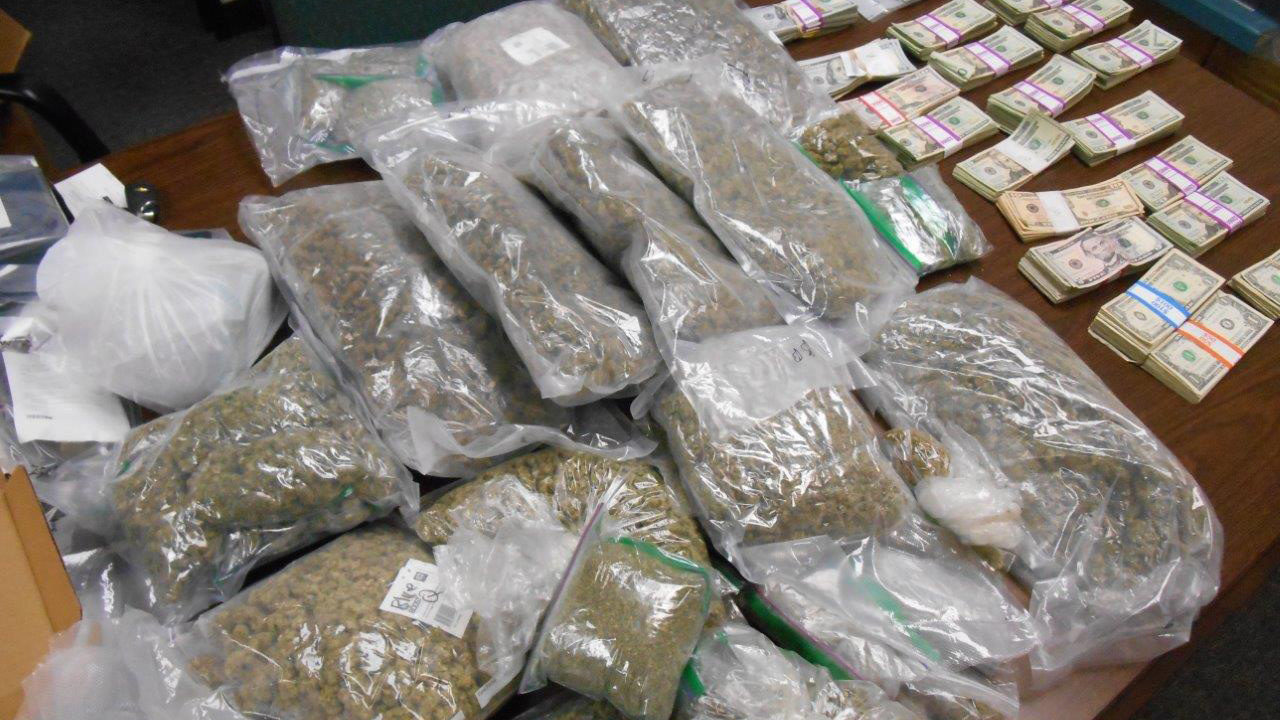 3 arrested after police seize 13 pounds of marijuana, over