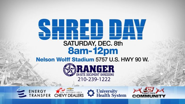 shred day has been rescheduled for dec 8