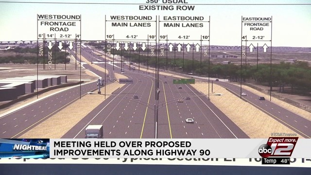 txdot proposes expansion of us 90 between loop 410 state