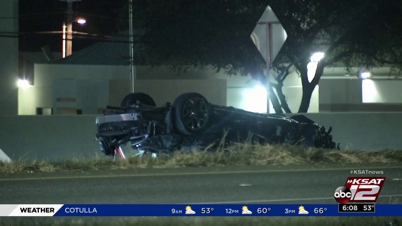 driver hospitalized after getting pinned inside vehicle during