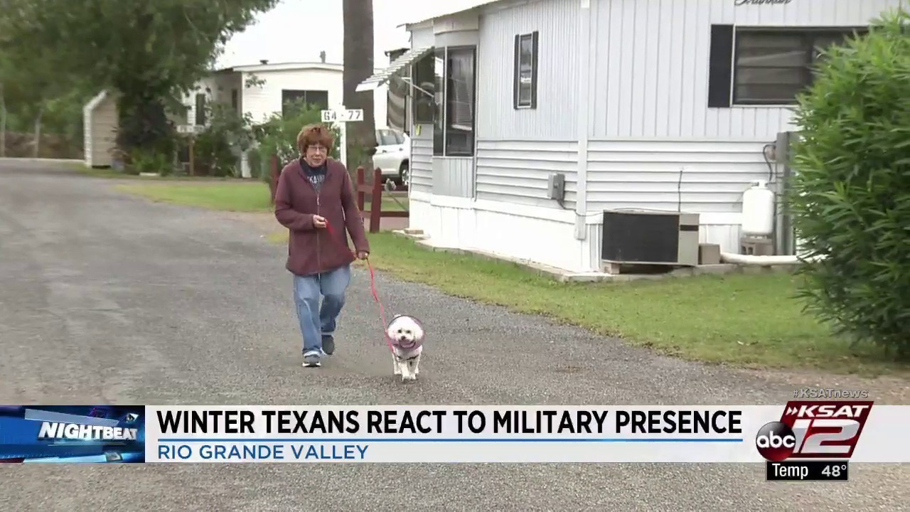 Winter Texans arrive to Rio Grande Valley to find more troops