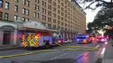 Firefighters respond to smoke in laundry chute of downtown hotel