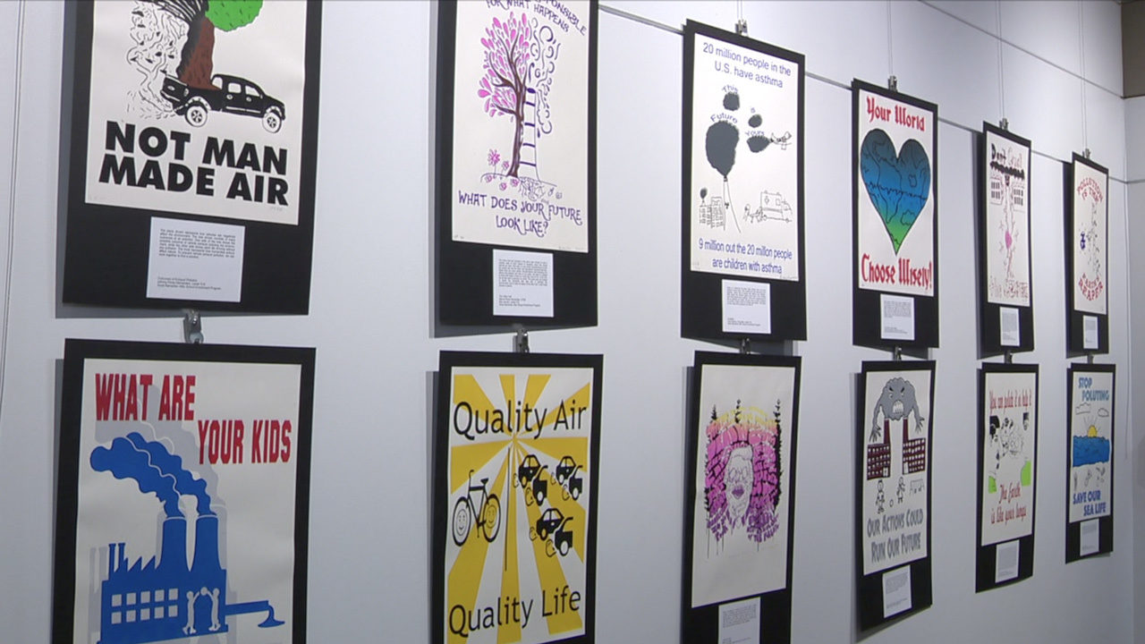 Local high school students spreading air quality awareness with art