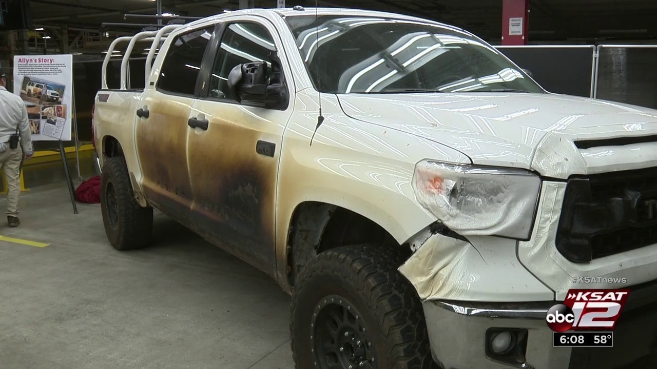 marshmallow' truck that survived camp fire returns to san