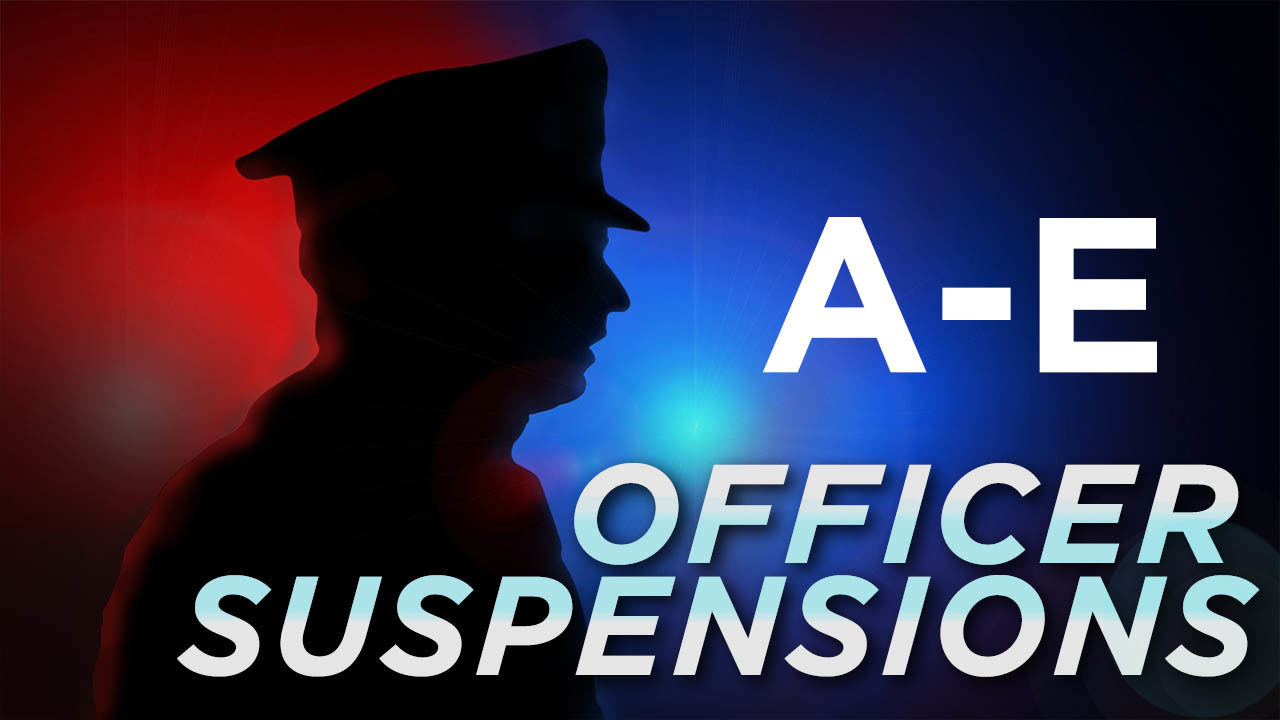 List of public safety officer suspensions (last names A-E)