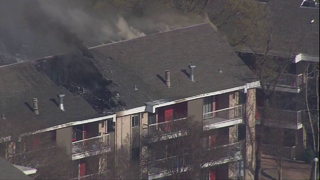 WATCH LIVE: Apartment fire on NE Side