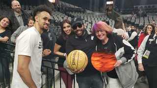 Woman helps create memorable outing for Spurs fan diagnosed with cancer