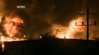 WATCH LIVE: Fire at Houston-area petrochemicals plant