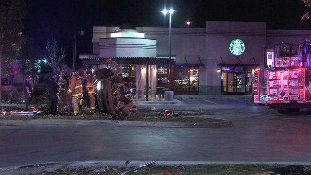 3 men arrested after leading DPS on chase, crashing in Starbucks parking lot