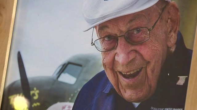 Memorial flyover held for last WWII Doolittle Raider who died Tuesday