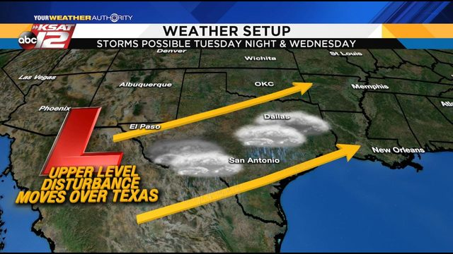 KSAT Weather: Another round of showers, storms likely this week