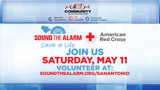 KSAT Community: American Red Cross 'Sound the Alarm' event seeks 500 volunteers
