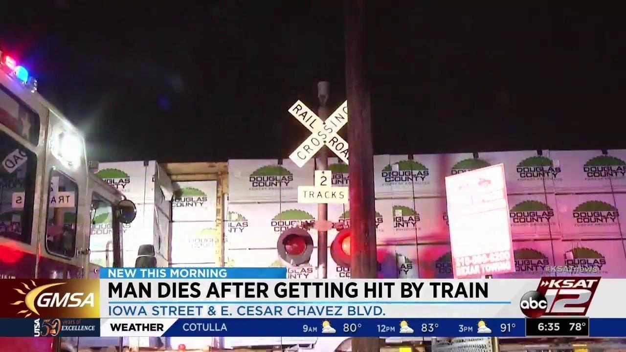 Man Sitting On Train Tracks Hit Killed By Train