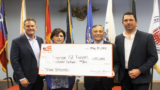 $10,000 donated to help homeless veterans find housing