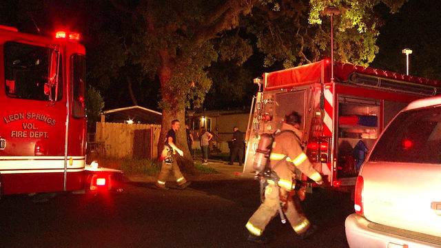 Cigarette fire damages trailer home in Leon Springs