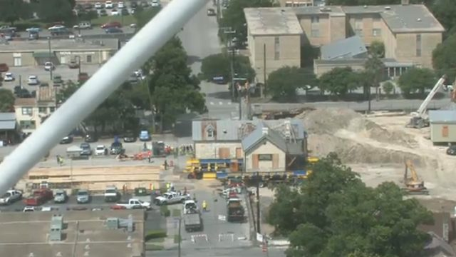 WATCH LIVE: 550-ton historic home moved from one side of street to the other