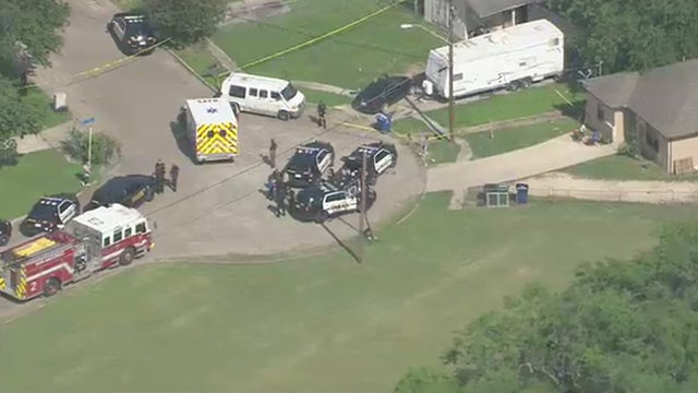 SKY 12 over shooting scene on South Side
