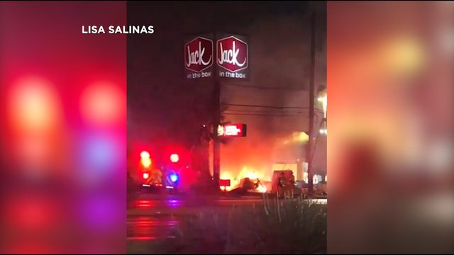 WATCH: Truck catches fire after crash on city's West side