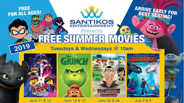 Free movies available for kids all summer at Santikos Theaters