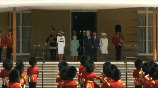 LIVE: President Trump, Queen Elizabeth/Buckingham Palace welcome ceremony