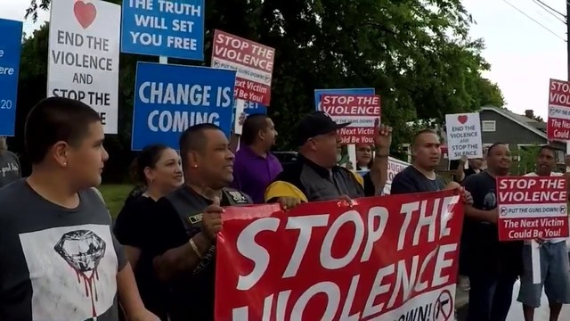 Residents, community leaders rally to end violence on the East Side