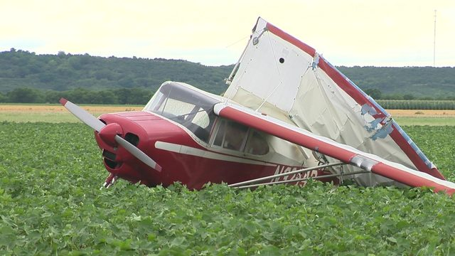 Strong winds blow small plane into field in Castroville