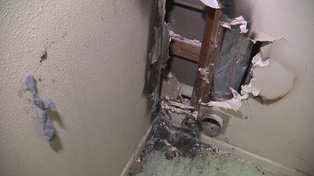 Electrical fire at Mission Park Apartments