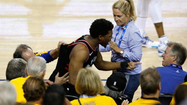 NBA bans Warriors investor, fines him $500K for shoving Raptors' Kyle Lowry