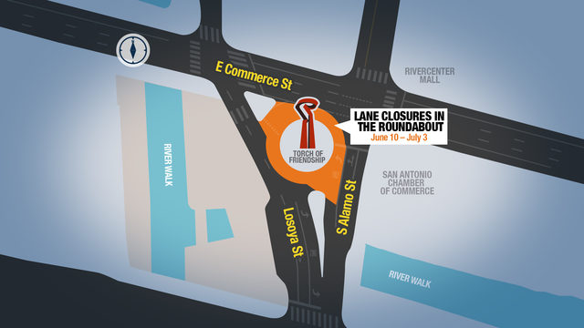 Roads closed for Torch of Friendship renovation starting Monday